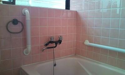 在来工法 浴室 手摺り