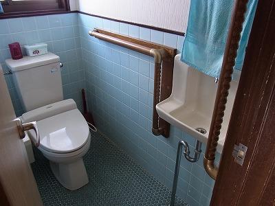 トイレ手すり 逆L字