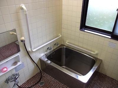 浴室 手すり タイル