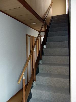 階段 昇り口 手すり 予想以上の出来