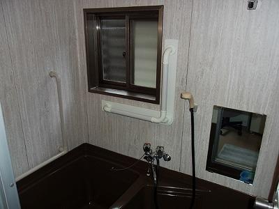 L型手すり 浴室 ベージュ